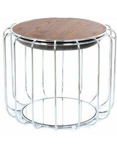 Pouf reversible table d'appoint 110 CONFORTABLE Gris Argent - par Arte Espina