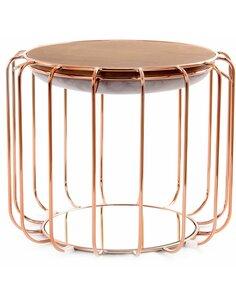 Pouf reversible table d'appoint 110 CONFORTABLE Violet Pouf Rosé Clair - par Arte Espina