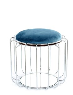 Pouf reversible table d'appoint 110 CONFORTABLE Essence Argent - par Arte Espina