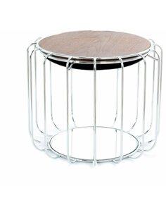 Pouf reversible table d'appoint 110 CONFORTABLE Noir Argent - par Arte Espina