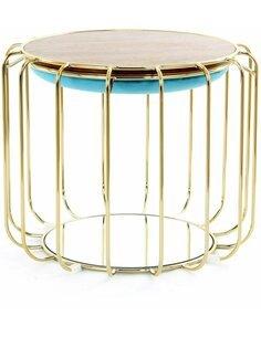 Pouf reversible table d'appoint 110 CONFORTABLE Turquoise Or - par Arte Espina