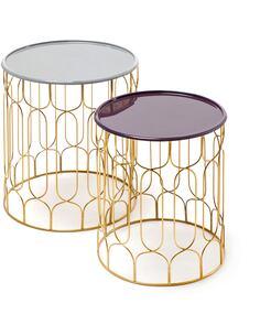 2x Tables TIMBA 210 Gris Prune - par Arte Espina