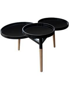 Table de plateau BUTLER 110 Noir - par Arte Espina
