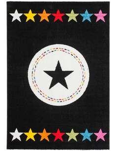 Tapis HACIENDA 410 Multicolore Noir - par Arte Espina