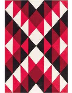 Tapis JOY 4130 Noir Rouge Blanc - par Arte Espina