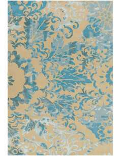 Tapis SATIN 8061 Crème Turquoise - par Arte Espina