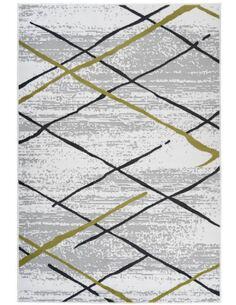 Tapis VANCOUVER 110 Blanc Gris KAKI - par Arte Espina