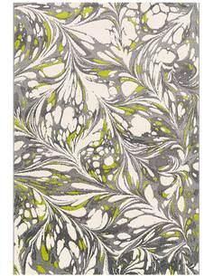 Tapis DÉPLACER 4443 Blanc Vert Gris - par Arte Espina