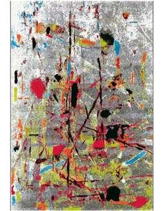 Tapis DÉPLACER 4457 Blanc Gris Multicolore - par Arte Espina