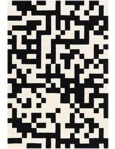 Tapis DYNAMIQUE 5054 Noir Blanc - par Arte Espina