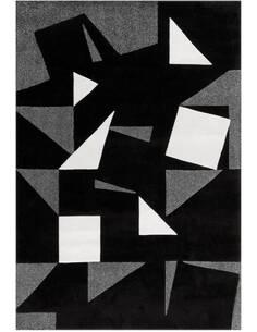 Tapis ESPRIT FRISÉE 3108 Noir Blanc Gris - par Arte Espina