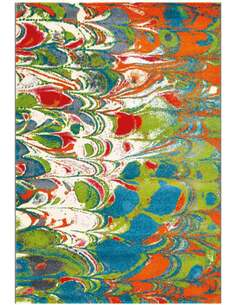 Tapis DÉPLACER 4441 Multicolore Vert - par Arte Espina