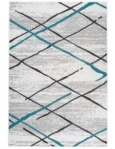 Tapis VANCOUVER 110 Blanc Gris Turquoise - par Arte Espina