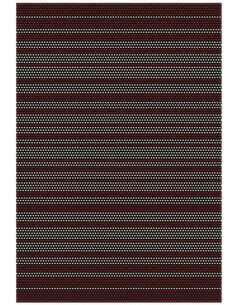Tapis AMBIANCE 8009 Noir Rouge Blanc - par Arte Espina
