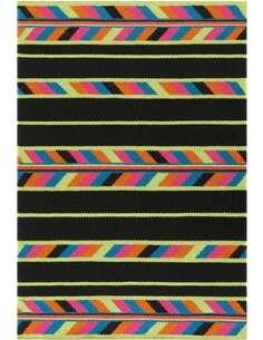 Tapis ARTISANAT 8053 Multicolore Noir - par Arte Espina