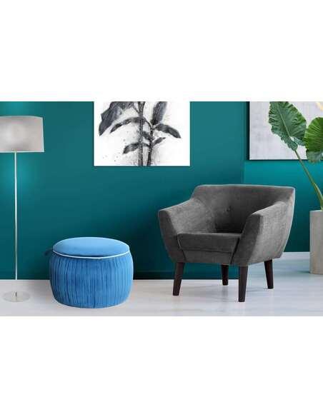 Pouf rangement gain de place ADOREE 110 Bleu - par Arte Espina