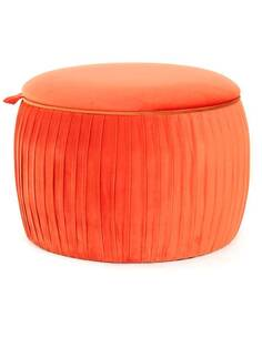 Pouf rangement gain de place ADOREE 110 Orange - par Arte Espina