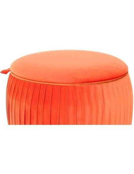 Pouf rangement gain de place ADOREE 110 Orange - par Arte Espina