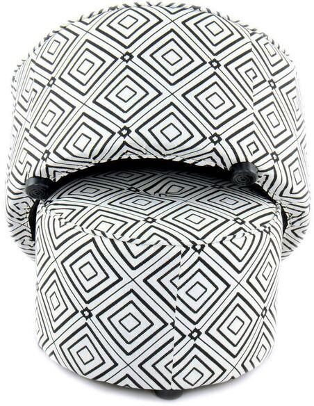 x2 Poufs gain de place INDIRA 110 Noir Blanc - par Arte Espina