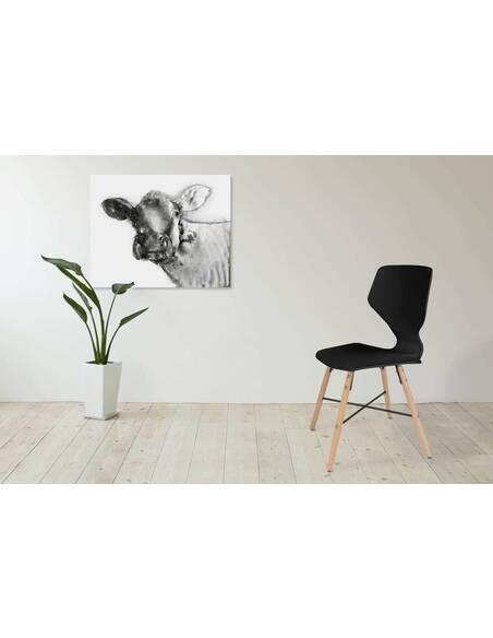 x4 chaises CHARLIE 110 Noir - par Arte Espina