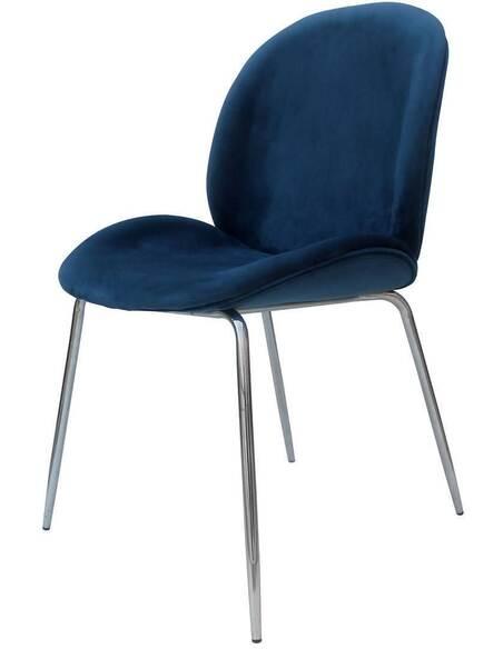 x2 chaises CHARLIZE 110 Bleu Chrome - par Arte Espina