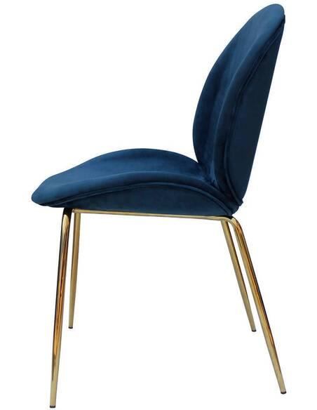 x2 chaises CHARLIZE 110 Bleu Or - par Arte Espina