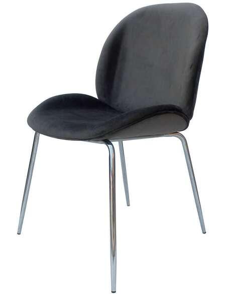 x2 chaises CHARLIZE 110 Gris Chrome - par Arte Espina