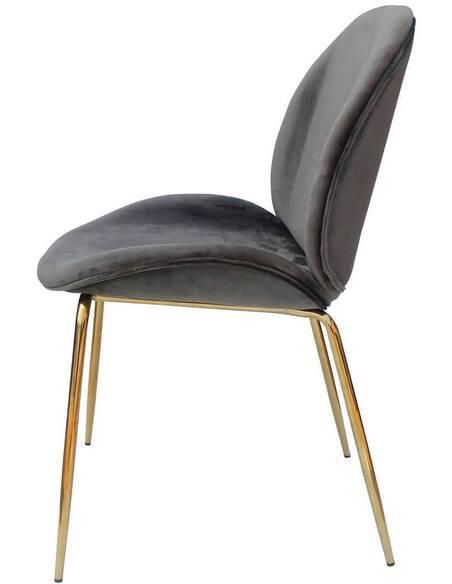 x2 chaises CHARLIZE 110 Gris Or - par Arte Espina