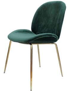 x2 chaises CHARLIZE 110 Vert Or - par Arte Espina