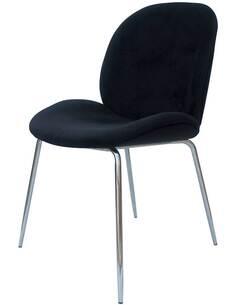 x2 chaises CHARLIZE 110 Noir Chrome - par Arte Espina