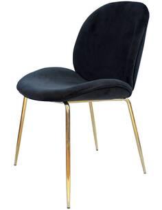chaise Charlize 110 ensemble de 2 noir / Or