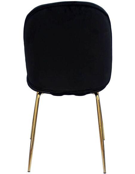 x2 chaises CHARLIZE 110 Noir Or - par Arte Espina