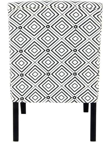 Fauteuil INDIRA 110 Noir Blanc - par Arte Espina