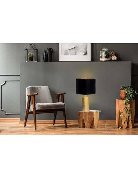 Lampe de table VOSTOK 110 Noir Or - par Arte Espina