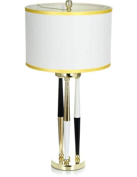 Lampe de table PARALLAXE 110 Blanc Noir Or - par Arte Espina