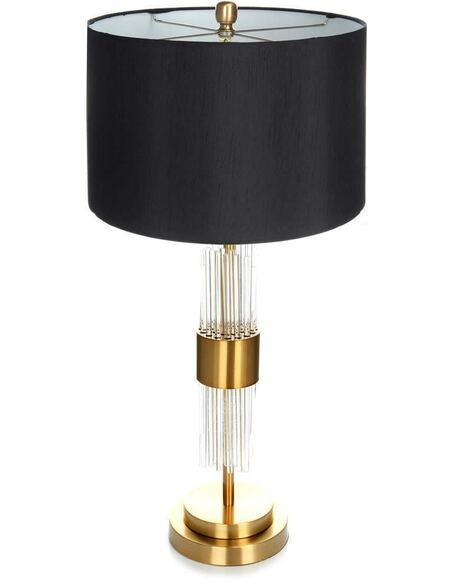 Lampe de table PLASMA 110 Noir Or Blanc - par Arte Espina