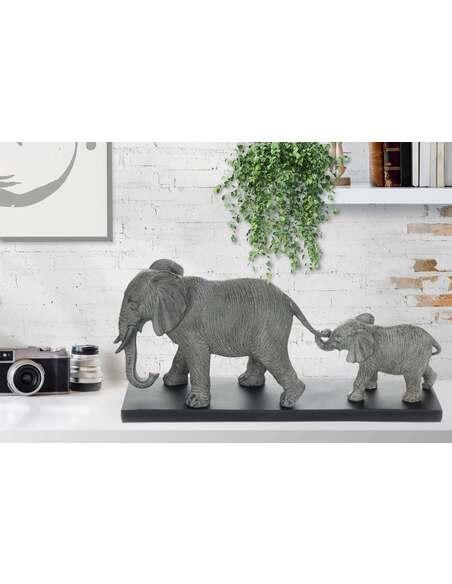Statue ELEPHANT FAMILY 110 GRAU - par Arte Espina