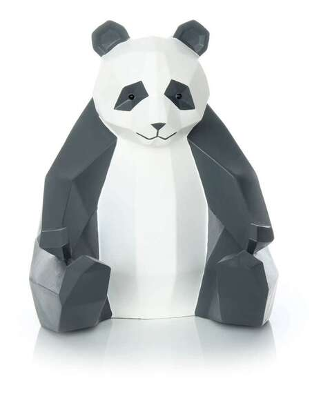 Sculpture PANDA 110 Blanc Noir - par Arte Espina