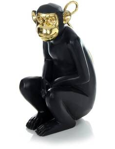 Sculpture SITTING SINGE 310 Or Noir - par Arte Espina