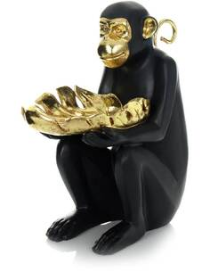 Sculpture SITTING SINGE 410 Or Noir - par Arte Espina