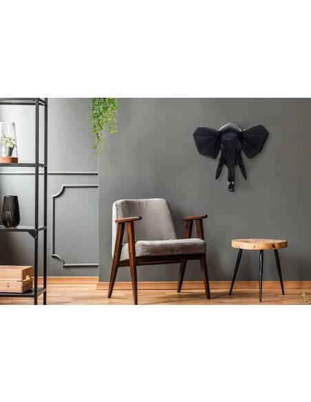 Décoration murale tête ELEPHANT 110 Noir - par Arte Espina