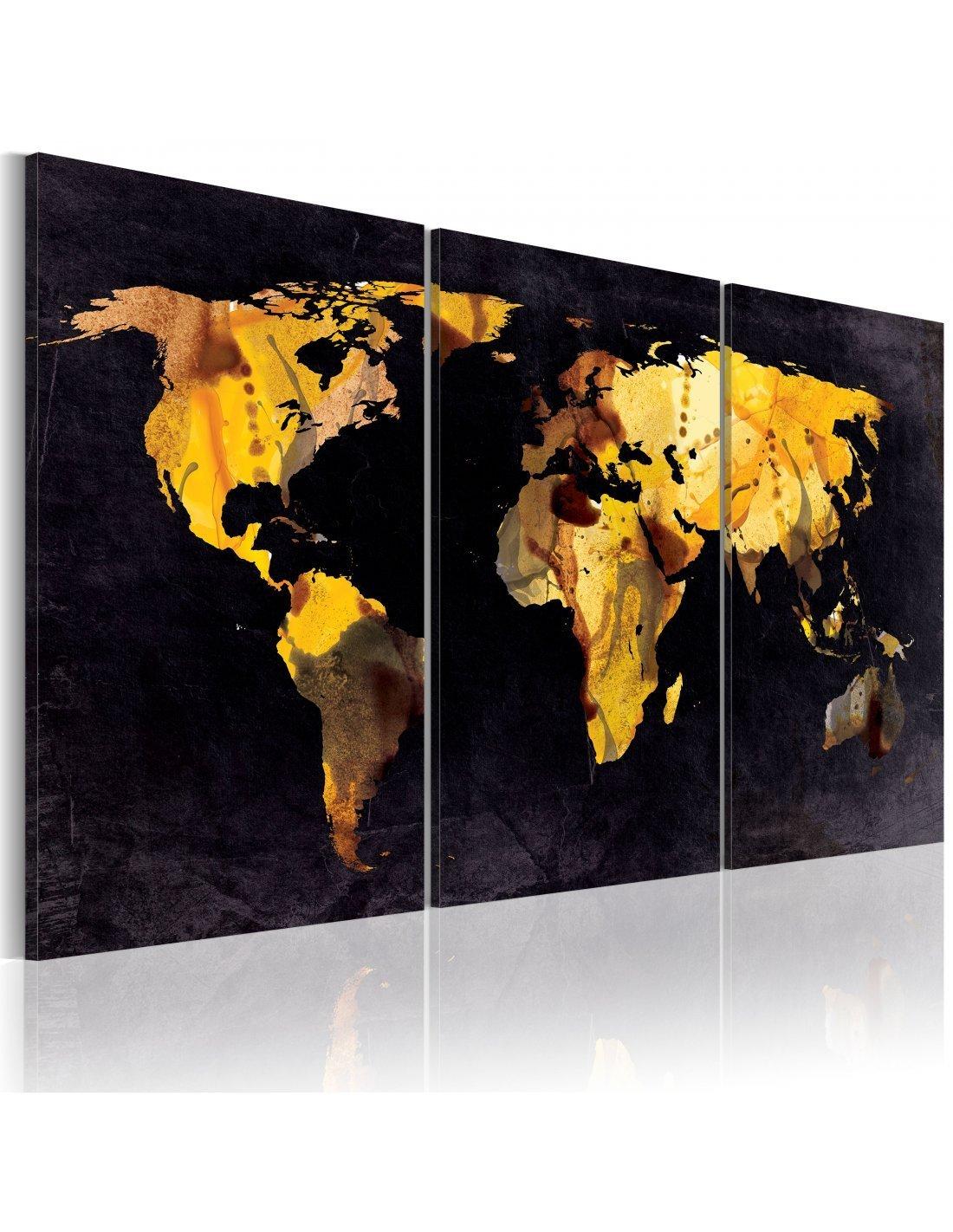 tableau carte du monde sables mouvants artgeist. Black Bedroom Furniture Sets. Home Design Ideas