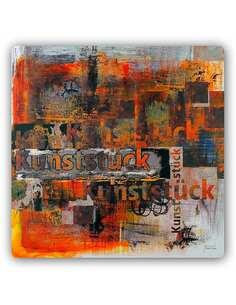 Plaque acier décorative ABSTRACTION - ART - par Feeby