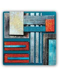 Plaque acier décorative 62 ABSTRACTION - par Feeby