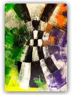 Plaque acier décorative RÉSUMÉ 76 - par Feeby