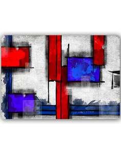 Plaque acier décorative GÉOMÉTRIQUE ABSTRAIT 6 - par Feeby