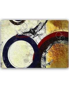 Plaque acier décorative ROUES MÉTALLIQUES ABSTRACTION - par Feeby