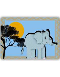 Plaque acier décorative ÉLÉPHANT D'AFRIQUE - par Feeby