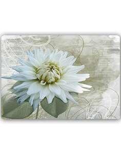 Plaque acier décorative FLEUR BLANCHE - par Feeby