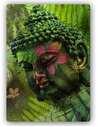 Plaque acier décorative FOUGÈRES BOUDDHA - par Feeby